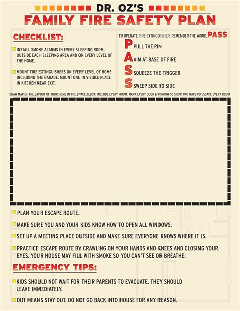 fire safety plan for home printable fire safety plan the dr oz show
