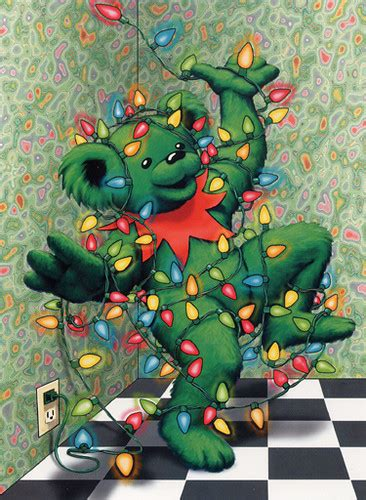 grateful dead dancing bear merry christmas zoooma flickr