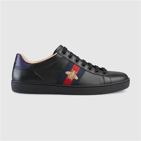 black gucci sneakers ace embroidered sneaker gucci s sneakers