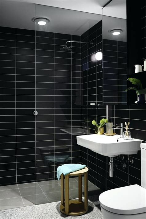 Black Bathroom Tiles Ideas by Tiles View In Gallery Black Subway Tile White Bathtubjpg