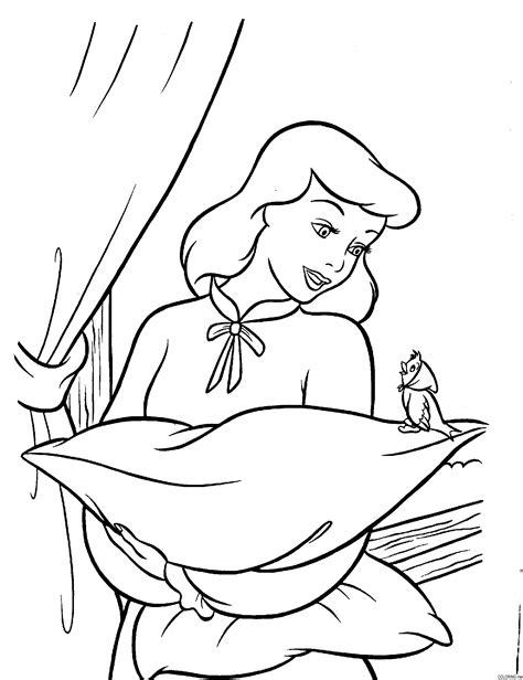 cinderella birds coloring pages coloring page cinderella talking with a bird coloring me