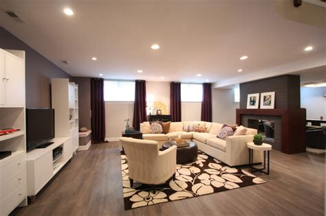 large dark brown l shades get privacy and style in basement with these best basement