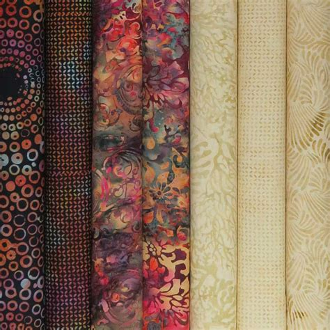 Ebay Quilting Fabric | 7 fat quarters hoffman bali batiks mulberry antique