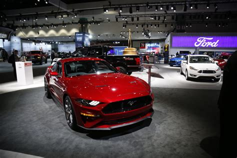 Mustang La Auto Show by Ford Flexes Mustang Muscle At The La Auto Show The