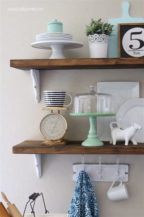 farmhouse chic dining room shelves lolly