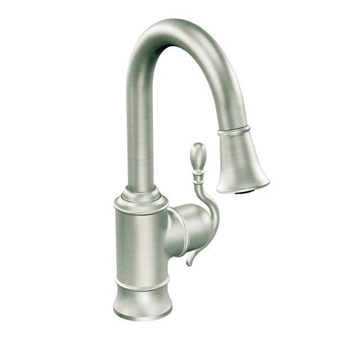 MOEN Woodmere Single Handle Bar Faucet Featuring Reflex in