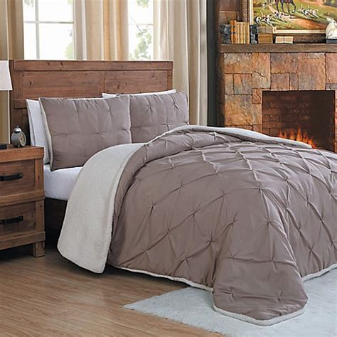 bed bath and beyond chandler buy chandler 3 piece king sherpa comforter set in taupe