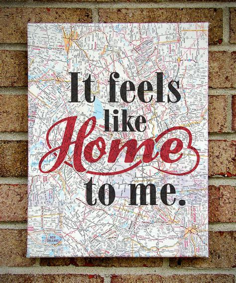 it feels like home to me canvas on sheet by tribeandtrade