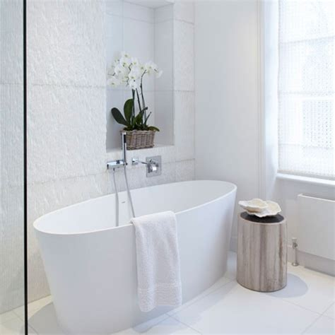 White Tiled Bathrooms by Create Texture Bathroom Tiles Housetohome Co Uk