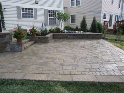 Backyard Paver Patio Brick Pavers Canton Plymouth Northville Arbor Patio Patios Repair Sealing