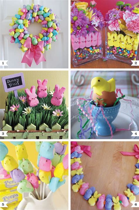 easter decoration ideas peeps decoration ideas for easter chickabug