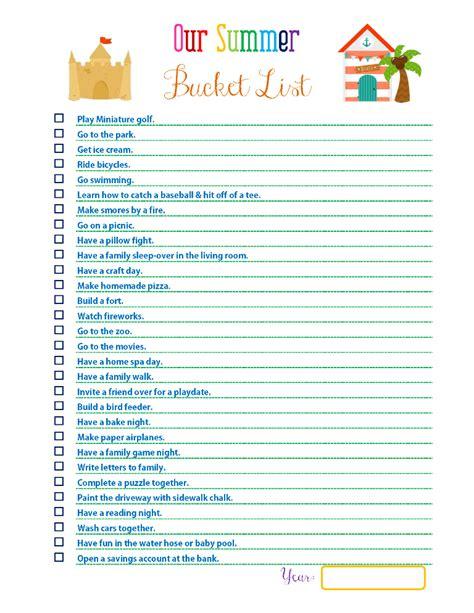 summer to do list template creating a summer list
