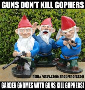garden gnomes with guns when my brain leaks the drops drip here special