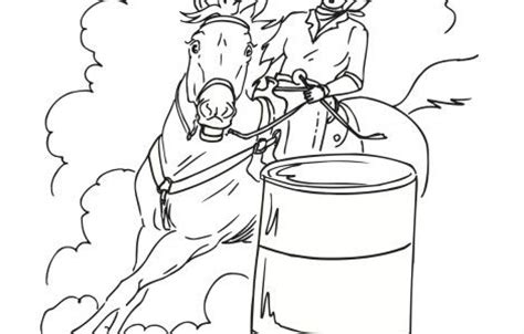 coloring pages of horses barrel racing barrel racing coloring pages cake ideas