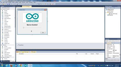 tutorial arduino visual basic arduino visual basic servo control