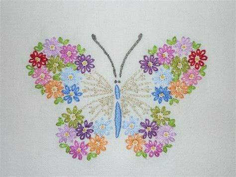 free butterfly hand embroidery butterfly embroidery embroidery pinterest