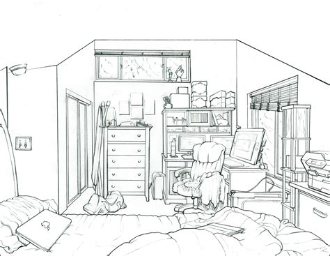 how to draw a bedroom charles wallace interior drawing of my bedroom