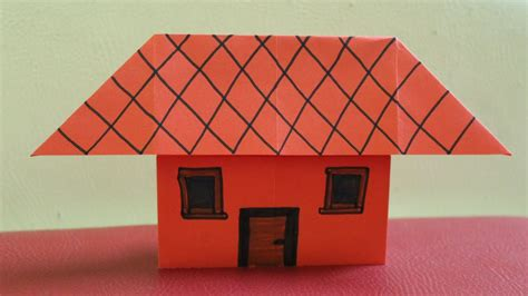 House With Paper - how to make a paper house without or glue