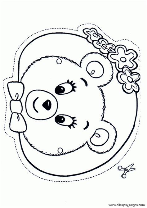 caritas para colorear pintar e imprimir caritas de osos para colorear imagui