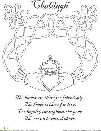 Claddagh Coloring Page | Irish symbols, Coloring pages