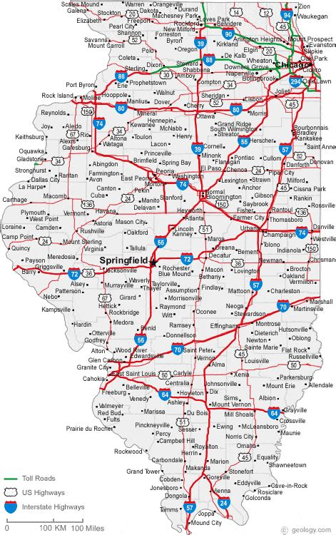 map of illinois map of illinois cities illinois road map