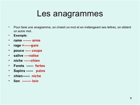 anagramma lettere animation d un atelier d 233 criture