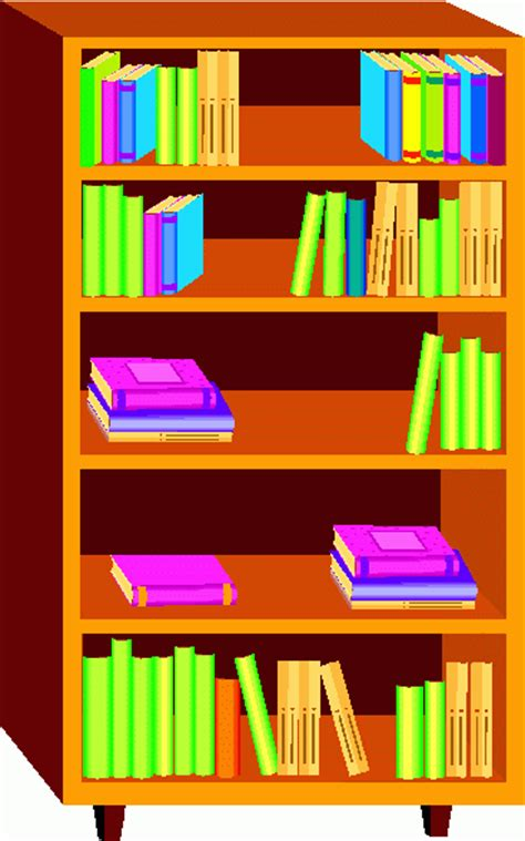 bookshelf clipart the cliparts