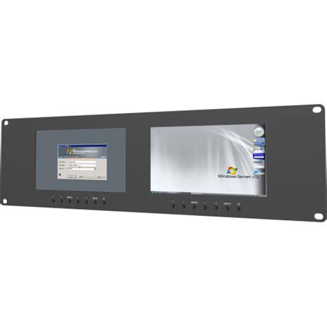 Server Rack Monitor by Lilliput Rm 7024 3u Dual Vga Rackmount Monitors