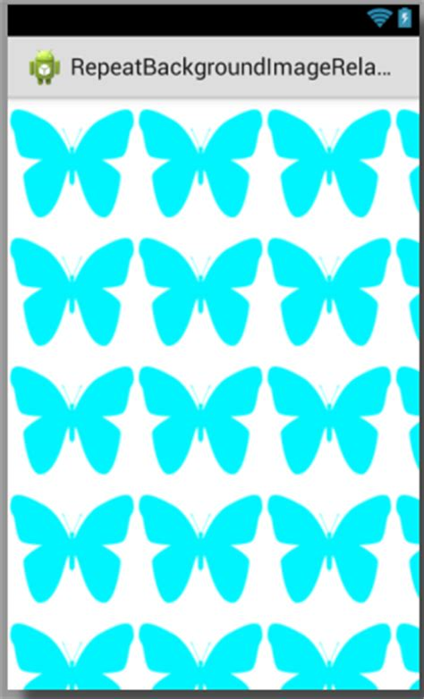 android background pattern repeat repeat background image in relativelayout android