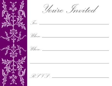 Printable Invitation Card Template | printable birthday invitations luxury lifestyle design