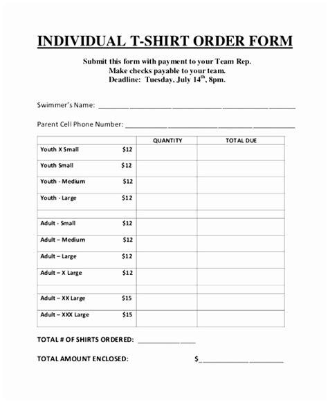 5 Blank T Shirt Order Form Template Autpa Templatesz234 Blank T Shirt Order Form Template Word