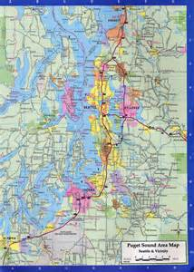 Map Of Seattle by Seattle Washington City Map Everett Washington Mappery