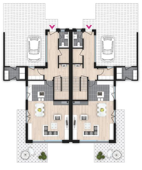 Grundriss Doppelhaus Ebenerdig by Doppelhaus Mit Charme Wiercimok Projektbau