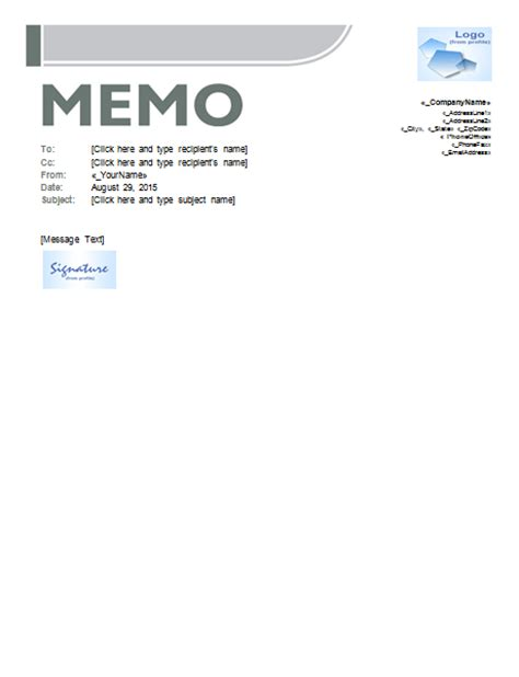 memo template sles and templates