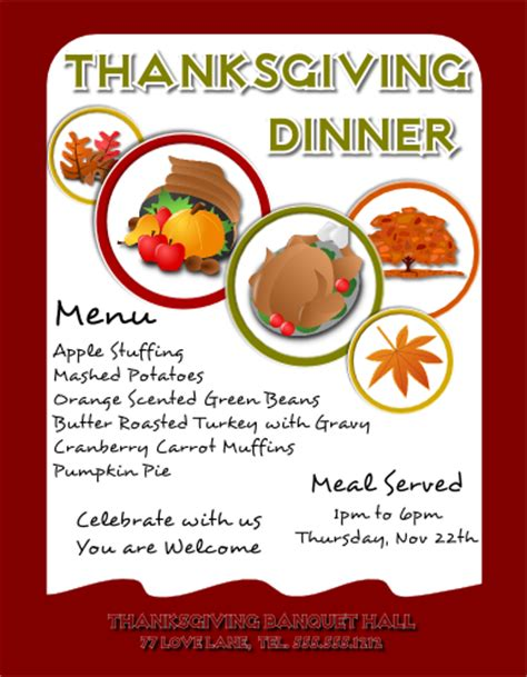 free templates for thanksgiving flyers thanksgiving flyer by flyertutor on deviantart