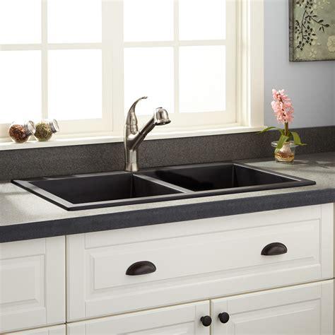 granite drop in sink 33 quot blyth bowl cast iron drop in kitchen sink kitchen