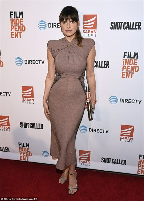 lake bell son lake bell wows in frock for la shot caller screening