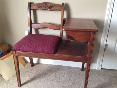telephone table with seat vintage frankson mahogany wood telephone phone table