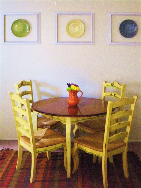 diy dining room hanging plates on wall decor popsugar home