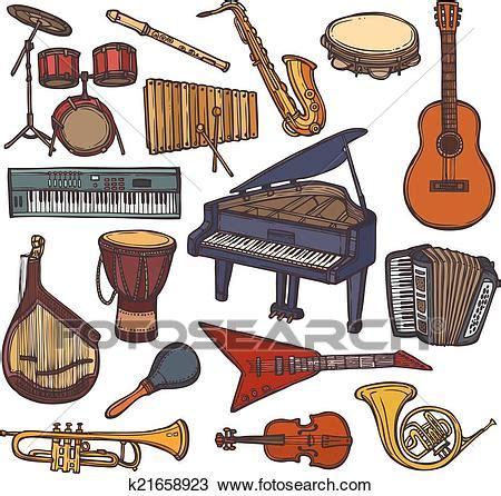 clipart strumenti musicali clipart strumenti musicali schizzo icona k21658923