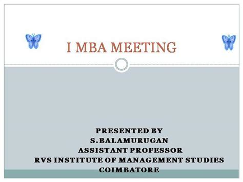 Mba Career Management Ppt by Mba Career Guideline Authorstream