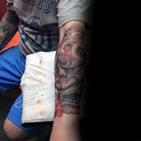 hannya mask tattoo forearm 100 hannya mask tattoo designs for men japanese ink ideas