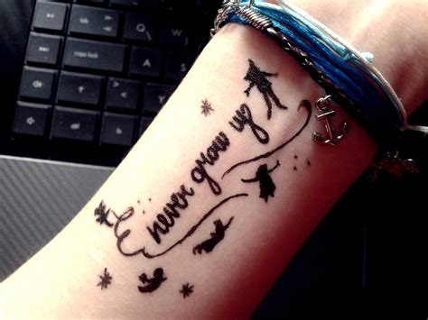 never grow up tattoo pan tattoos never grow up www imgkid the