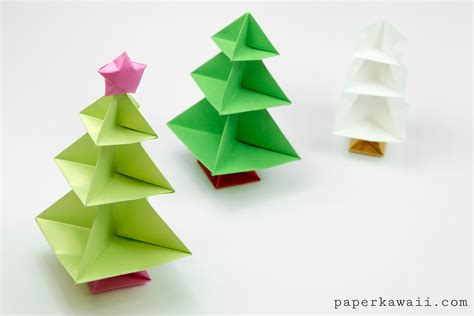 Origami Chrismas - origami tree tutorial paper kawaii