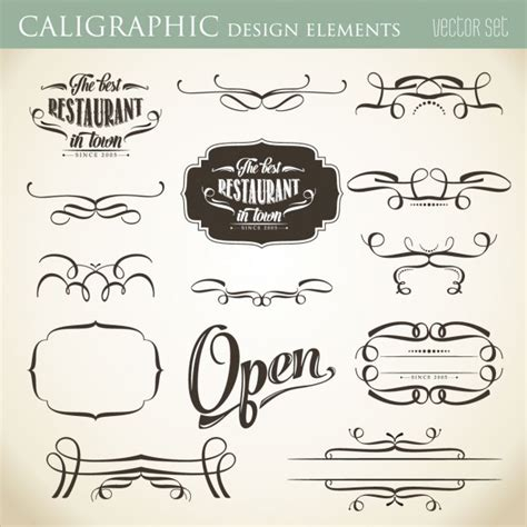 calligraphic design elements vector free calligraphic design elements vector free download