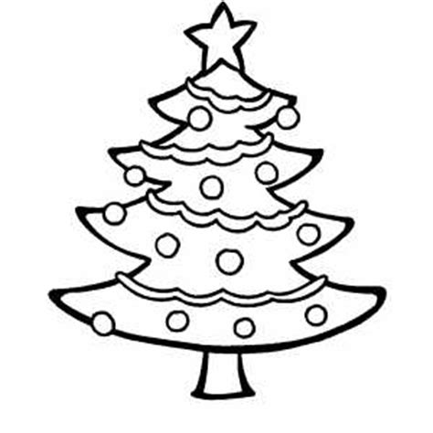 Decorated Tree Coloring Sheet Decorated Tree Coloring Page