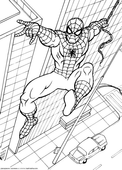 coloring pages spiderman online spiderman coloring pages online coloring home