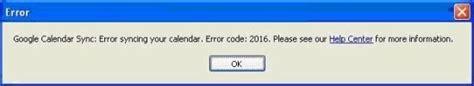 Calendar Sync Error 2016 Outlook Solutions Calendar Gmail Synchronization