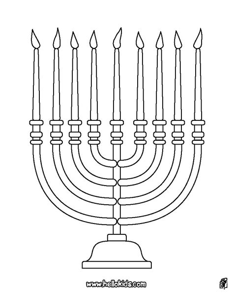hanukkah symbols coloring pages menorah coloring pages hellokids com