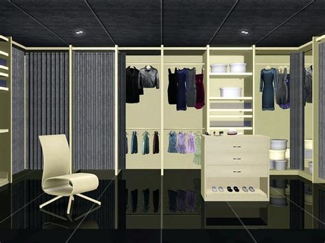 Sims 3 Closet by Flovv S White Walk In Closet